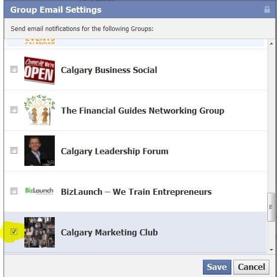 how to set facebook group username